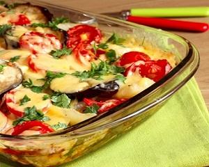 В духовке, Блюда из кабачков, Баклажаны запеченные, рецепты с фото на