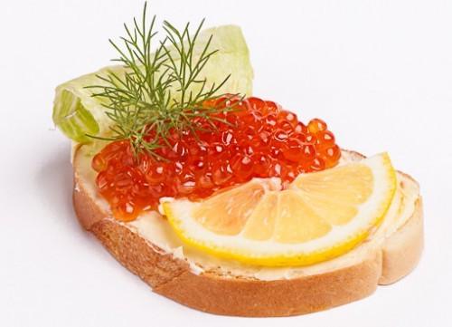 бутерброды с икрой оформление с фото